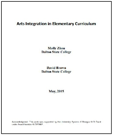Image of book titled Arts Integration in Elementary Curriculum: EDUC 3214 Open Textbook